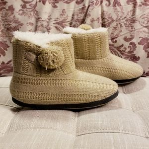 Bootie Slippers With Fur Lining